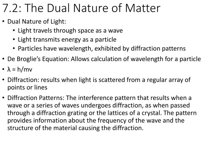 7 2 the dual nature of matter