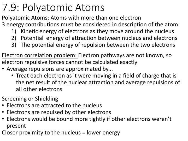 7.9: Polyatomic Atoms