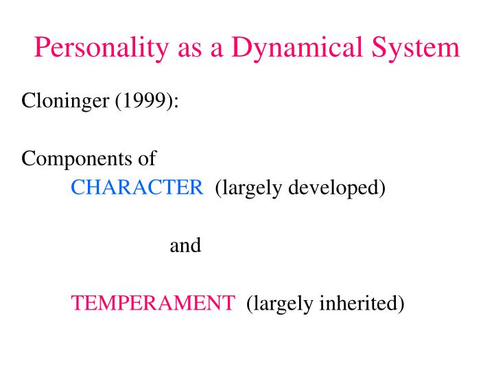 Personality as a Dynamical System