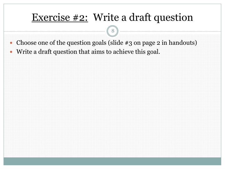 Exercise #2: