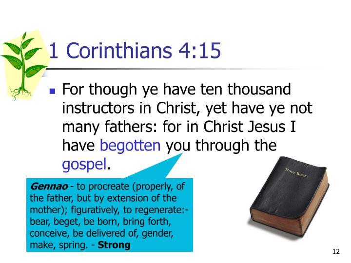 1 Corinthians 4:15