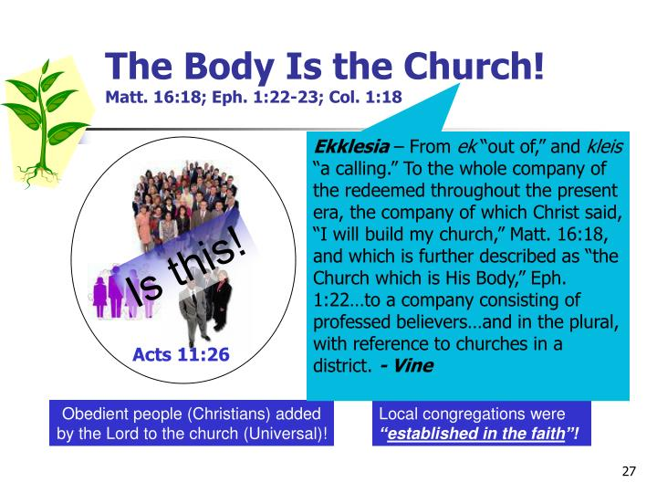 The Body Is the Church!