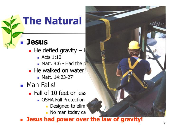 The natural law of gravity