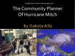 the community planner of hurricane mitch