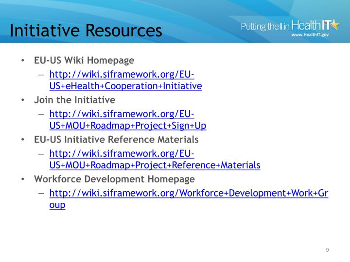 Initiative Resources