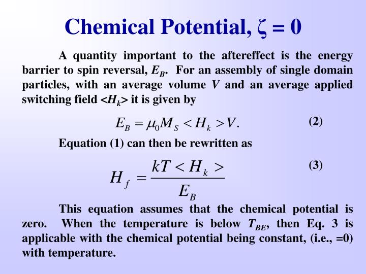 Chemical Potential,