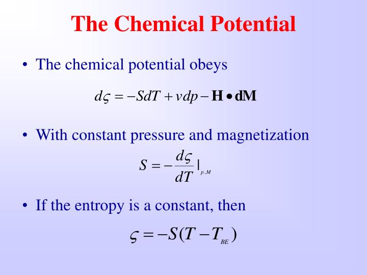 The Chemical Potential