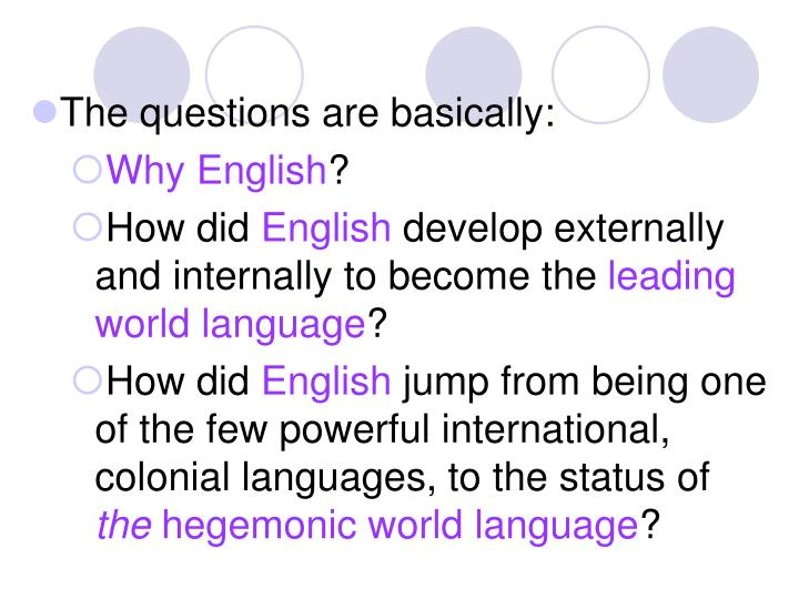 The questions are basically: