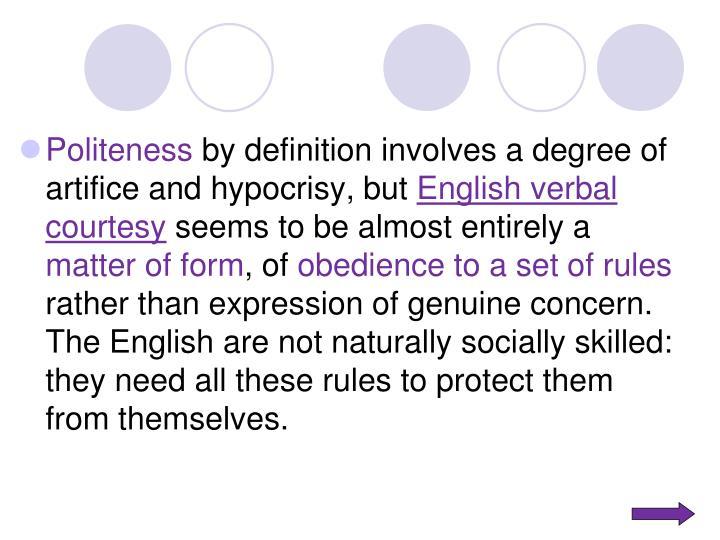 Politeness