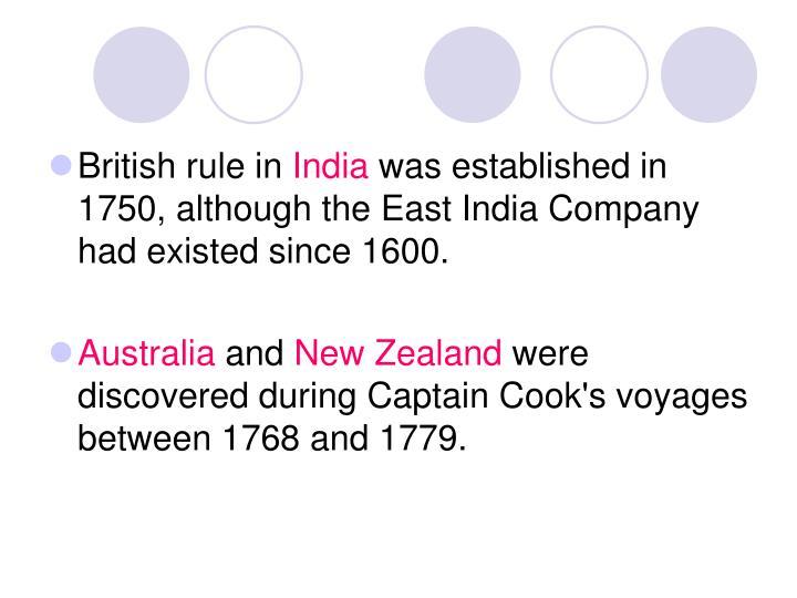 British rule in