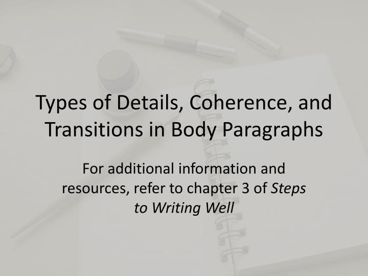 types of transitions in writing