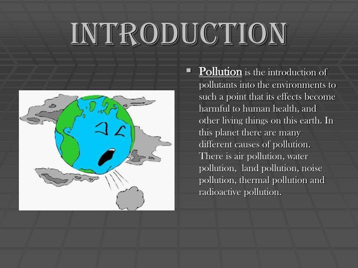 Ppt - Pollution Powerpoint Presentation