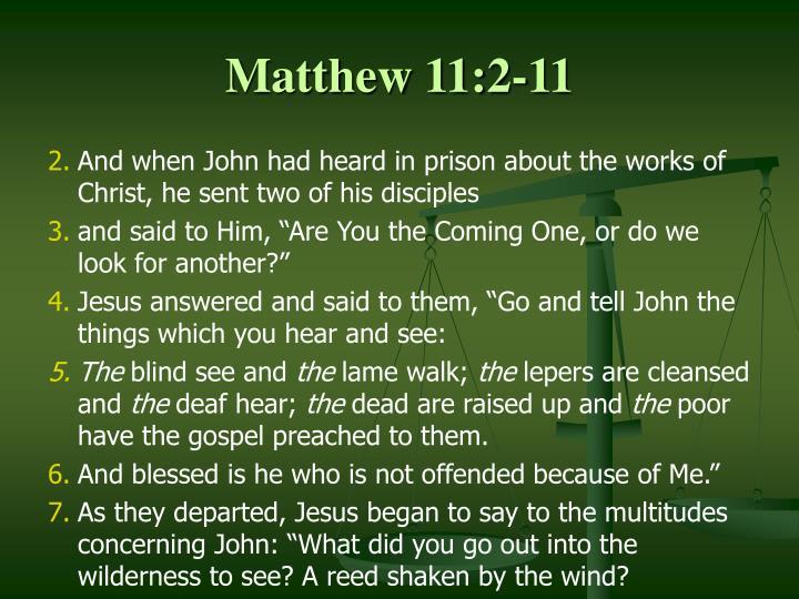 Matthew 11:2-11