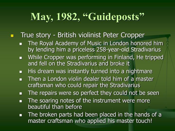 """May, 1982, """"Guideposts"""""""
