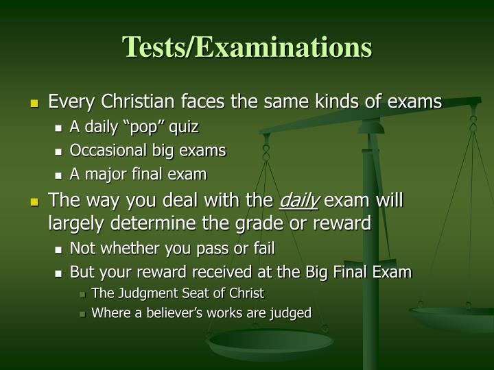 Tests examinations1