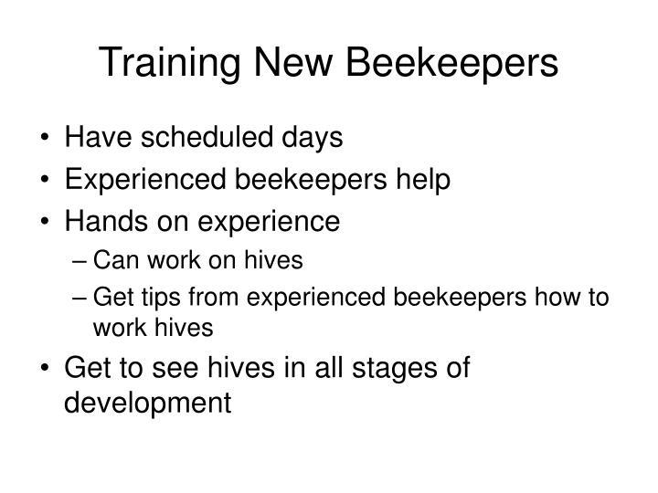 Training New Beekeepers