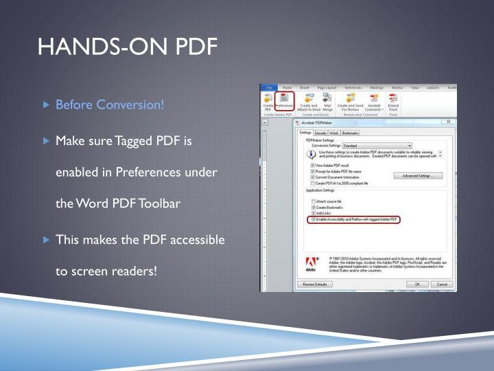 Hands-On PDF