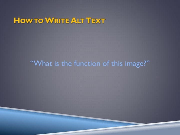 How to Write Alt Text
