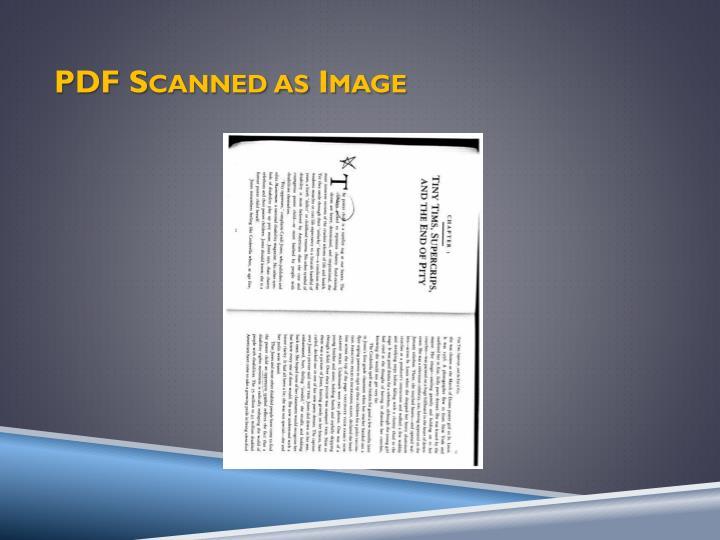 PDF Scanned as Image