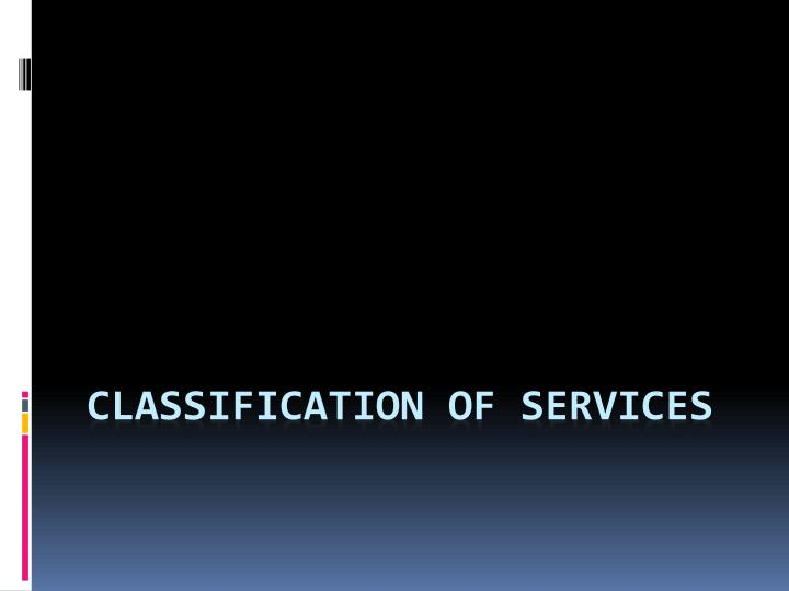 classification of services n.