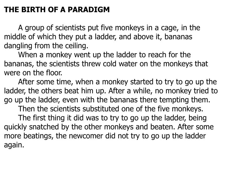 THE BIRTH OF A PARADIGM