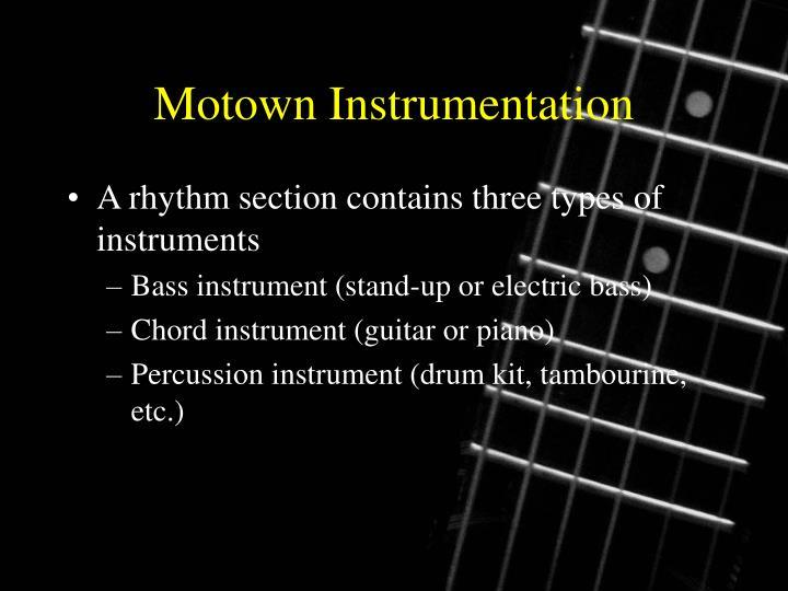 Motown Instrumentation