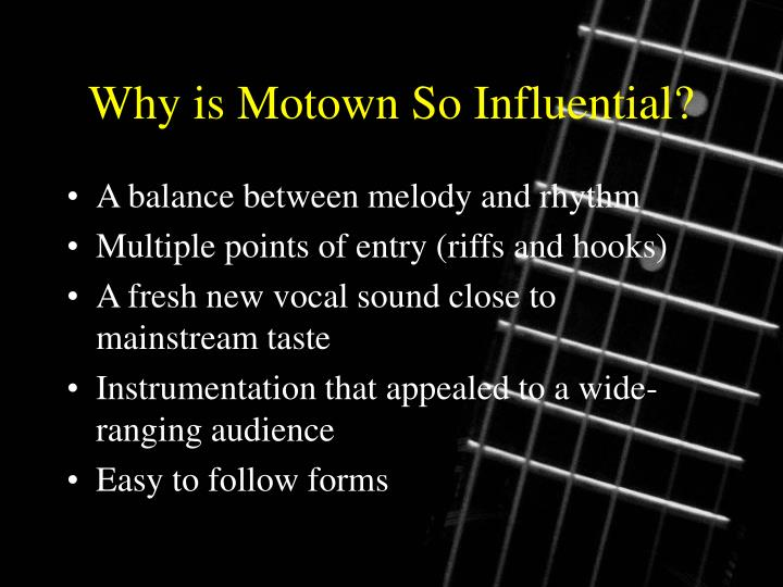 Why is Motown So Influential?