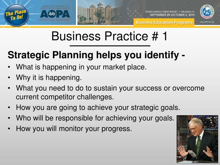 Business Practice # 1