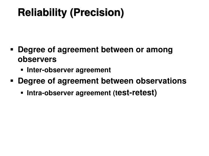 Reliability (Precision)