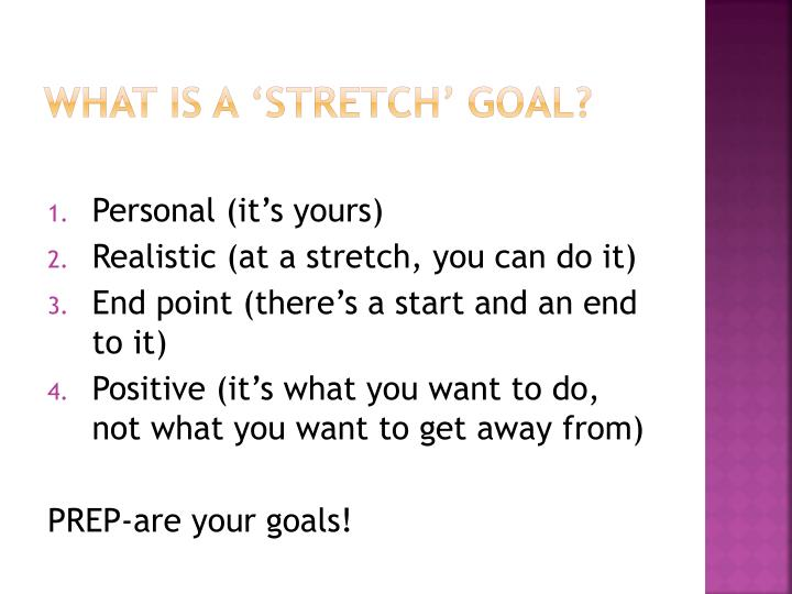 WHAT IS A 'STRETCH' GOAL?
