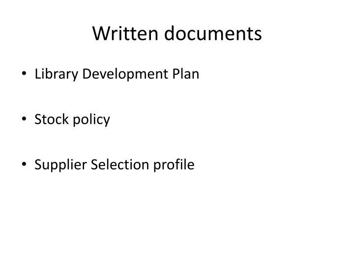 Written documents