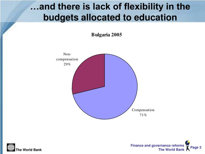 And there is lack of flexibility in the budgets allocated to education
