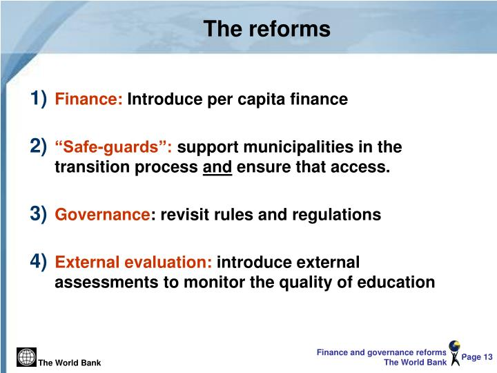 The reforms