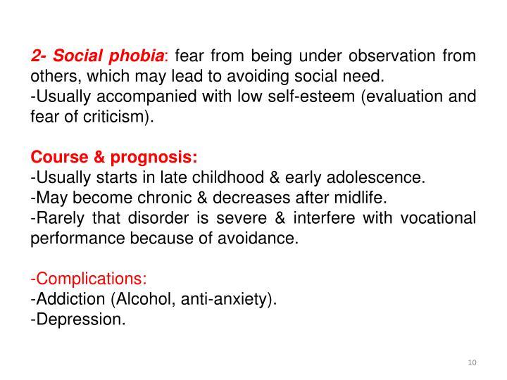 2- Social phobia