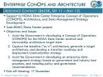 enterprise conops and architecture