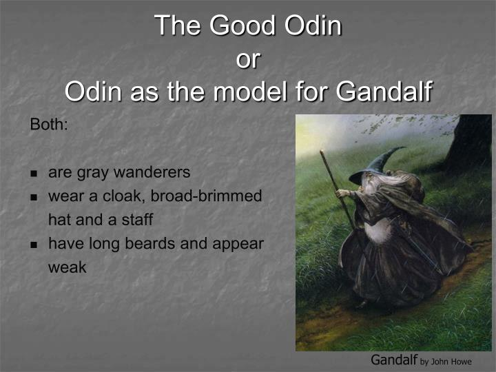 The good odin or odin as the model for gandalf