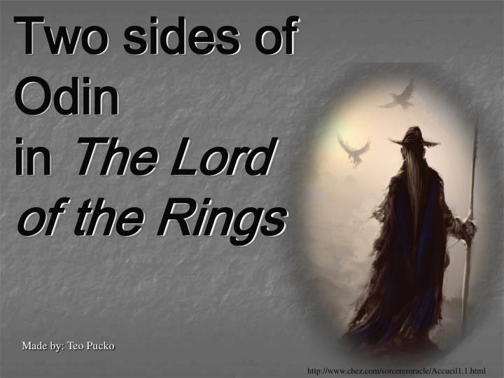 Two sides of odin in the lord of the rings