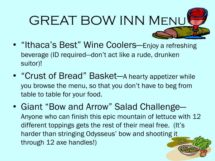 GREAT BOW INN Menu