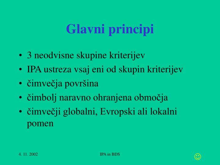 Glavni principi