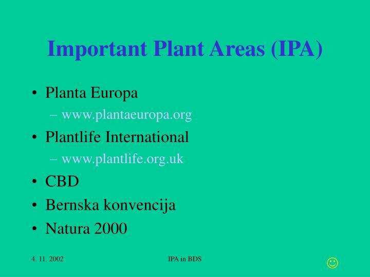 Important plant areas ipa