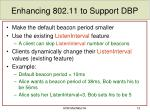 enhancing 802 11 to support dbp