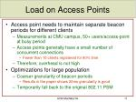 load on access points