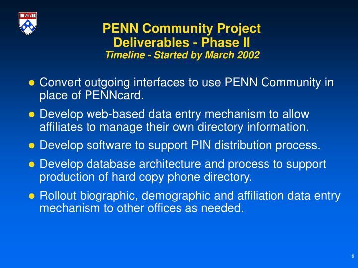 PENN Community Project