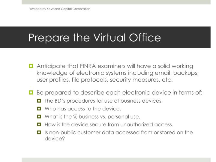 Prepare the virtual office