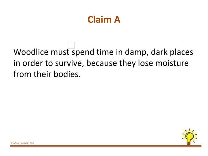 Claim A