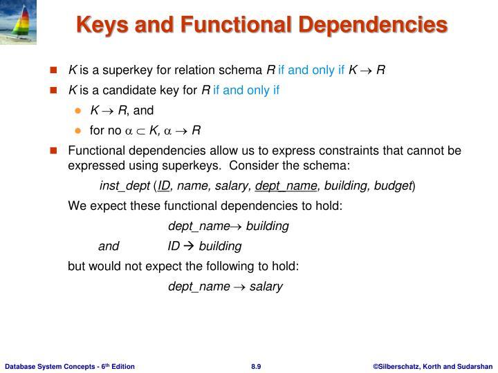 Keys and Functional Dependencies