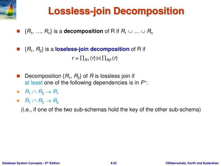 Lossless-join Decomposition