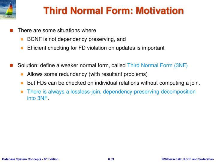 Third Normal Form: Motivation