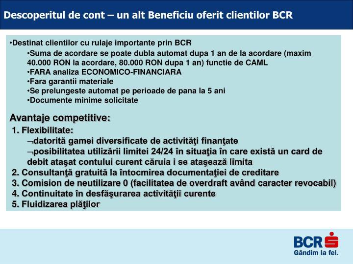 Descoperitul de cont – un alt Beneficiu oferit clientilor BCR