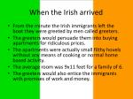 when the irish arrived